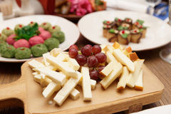 Cheese and traditional Georgian appetizers stock photos