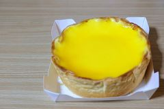 Cheese trat cake. Sweet yellow Cheese trat cake imported from Japan Stock Image