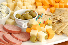 Cheese tray Royalty Free Stock Images