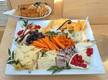 Cheese tray Stock Photography