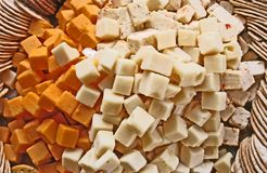 Cheese Tray. Party tray with cheese and crackers Royalty Free Stock Photo