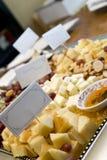 Cheese tray Stock Image
