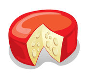 Cheese Truckle (illustration) Stock Photo