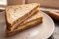 Cheese Tuna Sandwich Royalty Free Stock Images