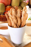 Cheese Twist Pastry Royalty Free Stock Photography