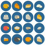 Cheese type objects Stock Images