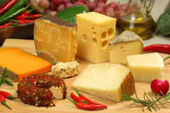 Free Cheese Varieties Royalty Free Stock Photo - 18241745