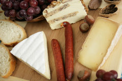 Cheese variety Stock Images