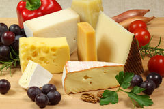 Cheese variety Royalty Free Stock Images