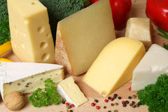 Cheese variety Stock Photo