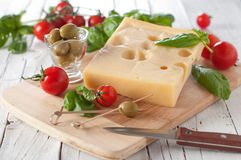 Cheese and vegetable Royalty Free Stock Images