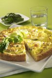 Cheese and vegetable quiche Royalty Free Stock Photos