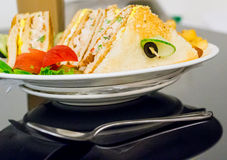 Cheese, vegetable sandwich healthy food Stock Image
