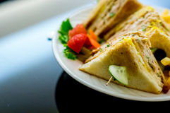 Cheese, vegetable sandwich healthy food Royalty Free Stock Photography