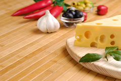Cheese and vegetables Royalty Free Stock Photos