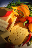 Cheese and vegetables Royalty Free Stock Photo