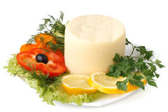 Cheese with vegetables Royalty Free Stock Photo