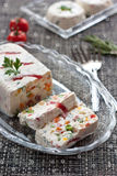 Cheese and vegetables terrine royalty free stock photo