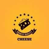 Cheese vintage label design background Royalty Free Stock Photography