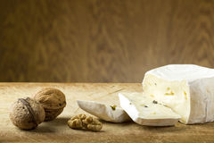 Cheese and walnuts Royalty Free Stock Photo