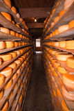 Cheese warehouse Royalty Free Stock Images