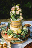 Cheese wedding cake Royalty Free Stock Photo