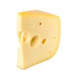 Cheese wedge edam. On white background royalty free stock photo