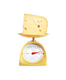 Cheese Weighing Royalty Free Stock Images