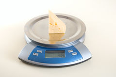 Cheese weighting Royalty Free Stock Photography