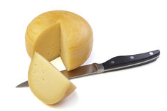 Cheese wheel Royalty Free Stock Images