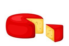 Cheese wheel. Vector illustration. Royalty Free Stock Photos