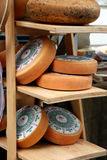 Cheese wheels Stock Image