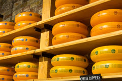Cheese wheels Royalty Free Stock Photography