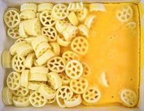 Cheese Wheels Frozen Stock Photos
