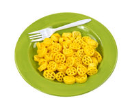 Cheese Wheels On Plate Fork Royalty Free Stock Photos