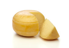 Cheese on white Royalty Free Stock Image