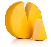 Cheese on white background. Stock Photo