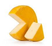 Cheese on white background. Royalty Free Stock Photography