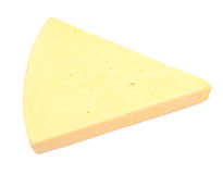 Cheese on white Royalty Free Stock Photo