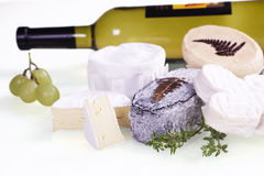 Cheese and wine. Royalty Free Stock Images