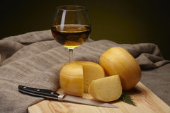 Cheese and wine Royalty Free Stock Image