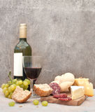 Cheese and wine Stock Image