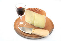 Cheese and wine. Snack and red wine Stock Photography