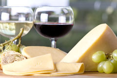 Cheese and Wine Royalty Free Stock Images