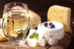 Cheese with wine Stock Photo