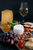 Cheese and wine evening Stock Image
