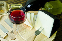 Cheese and wine. Royalty Free Stock Photos