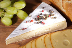 Cheese with wine Royalty Free Stock Image