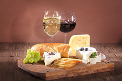 Cheese with wine Royalty Free Stock Photo