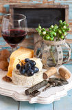 Cheese and wine. Stock Photos